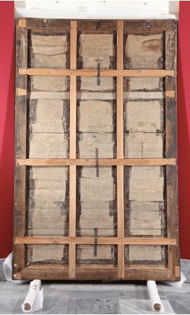 Roger Van der Weyden: Trasera del Calvario tras su restauración. Madrid, Patrimonio Nacional.