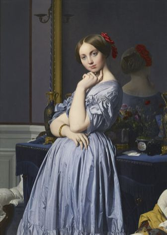 Jean Auguste Dominique Ingres: Retrato de la Condesa D'Haussonville. The Frick Collection.