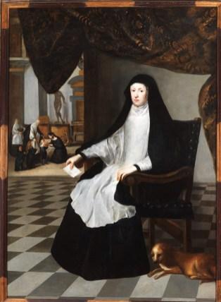 Juan Bautista Martínez del Mazo: Retrato de Mariana de Austria. Colección Granados.