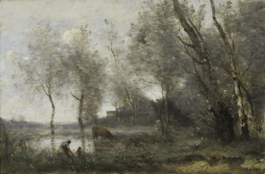 Camille Corot: El estanque. The Frick Collection.
