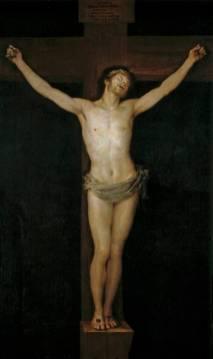 Francisco de Goya: Cristo crucificado. 1780. Museo del Prado. Procedente del convento franciscano de San Francisco el Grando de Madrid, dónde había sido enviado por la Academia de San Fernándo.