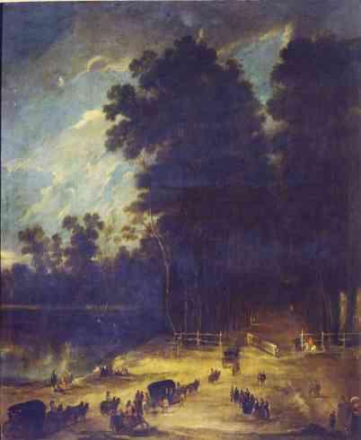 Benito Manuel de Agüero: Vista de la calle de la reina de Aranjuez. Madrid, Museo Nacional del Prado.