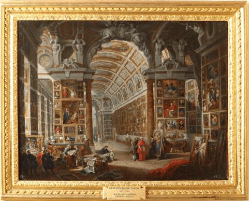 Giovanni Pannini: La Galería del Cardenal Gonzaga. Patrimonio Nacional.