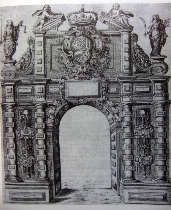 Pavía, Puerta de Santa María para la entrada de Mariana de Austria, 1648.