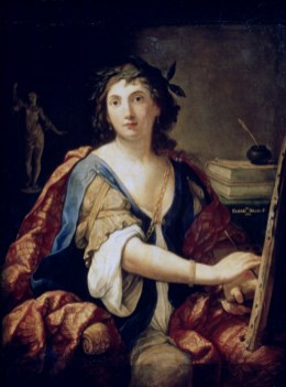 Elisabetta Sirani: Autorretrato. Museo Pushkin. foto: wikipedia.