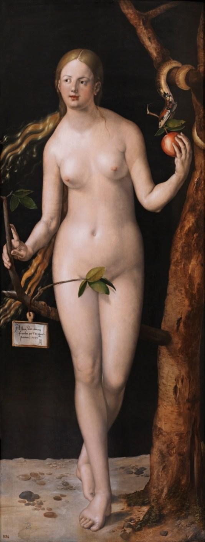 Alberto Durero: Eva. Madrid, Museo Nacional del Prado.