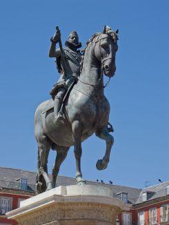 Giambologna: Estatua ecuestre de Felipe III. Madrid, Plaza Mayor. Foto: wikipedia.