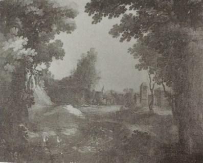 Matías Jimeno: Paisaje con un río. Antiguo cat. del Prado nº 2305.
