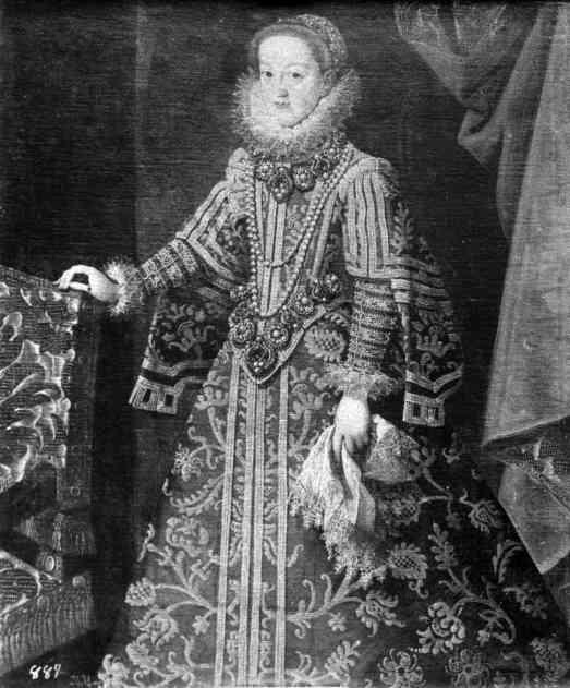 Bartolomé González: Retrato de la archiquesa Leonor, cuñada de Felipe III. Depositado por R.O en la Embajada de España en Lisboa en 1919. Desaparecido.