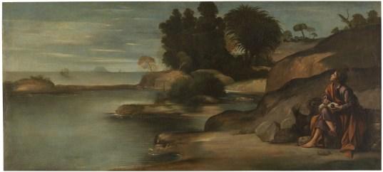 Juan Bautista Maíno. San Juan en Patmos. Museo del Prado. Madrid.