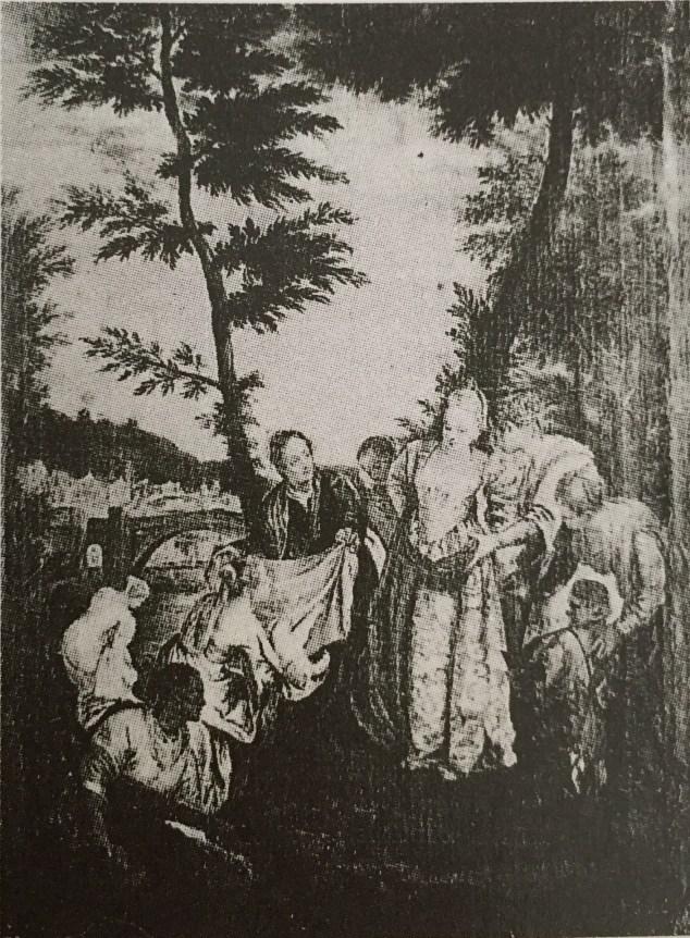 Veronés, copia de: Moisés salvado de las aguas. Depositado en la Embajada Española de Lisboa en 1919. Desaparecido.