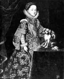 Bartolomé González: Retrato de la archiduquesa María Magdalena, cuñada de Felipe III, gran duquesa de Toscana. Depositado por R.O en la Embajada de España en Lisboa en 1919. Desaparecido.