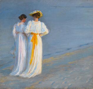 """P.S. Krøyer: Estudio para """"Tarde de verano en la playa de Skagen"""", 1893. Subastando en Sotheby's en 2012."""