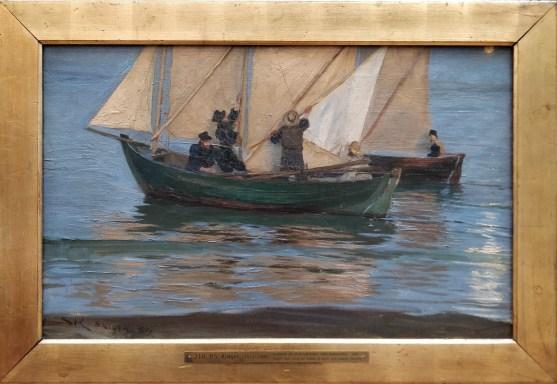 P.S. Krøyer: Gentes de Skagen saliendo a pescar por la noche, 1884. Copenhague, Den Hirschsprungske Samling. Foto: Investigart.