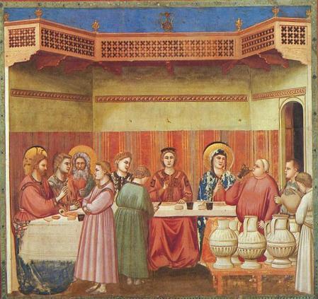 Giotto. Bodas de Caná. Capilla Scrovegni. Padua (foto: wikipedia)