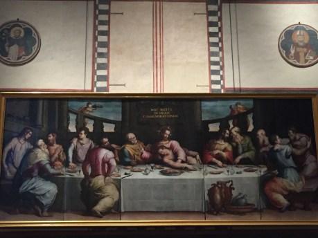 La Última Cena colocada en el refectorio de la Santa Croce tras su restauración.