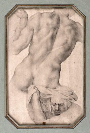 Escuela italiana del siglo XVI: Torso desnudo. Vendido en Subastas Abalarte.