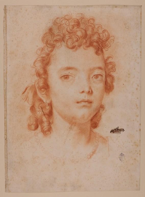 Carlo Maratta: Retrato de Faustina, hija del pintor. RABASF, nº inv. D-1533.