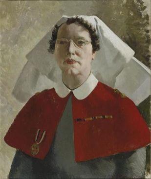 Anna Zinkeisen: Retrato de la enfermera Miss Wade, 1944.