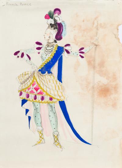Doris Zinkeisen: Diseño para vestuario de una obra teatral.