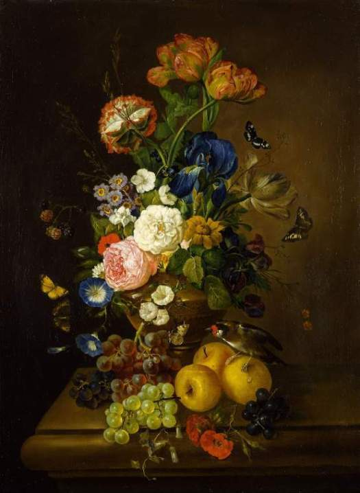 Mary Moser: Flores recien cortadas. Cambridge, Fitzwilliam Museum of Art.
