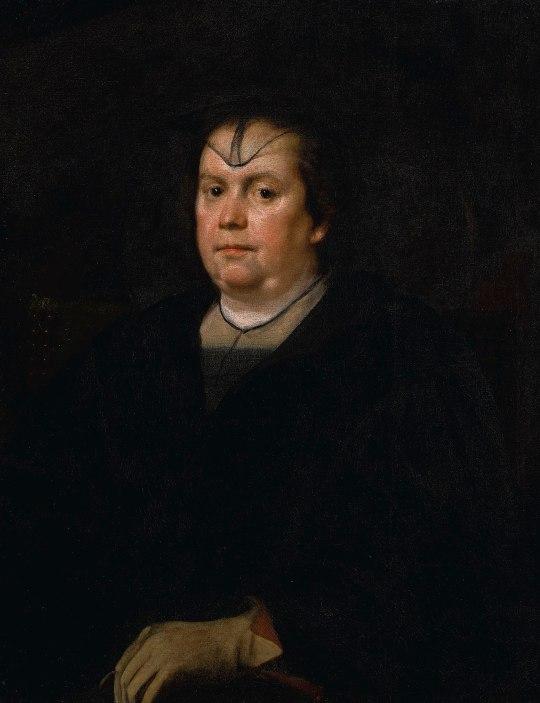 Diego Rodríguez de Silva y Velázquez: Olimpia Pamphili, 1650. Óleo sobre lienzo. Subastado en Sotheby's en junio de 2019.