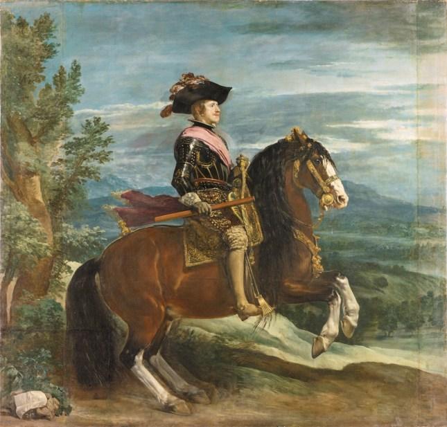 Diego Rodríguez de Silva y Velázquez: Retrato de Felipe IV a caballo, 1635. Madrid, Museo Nacional del Prado.