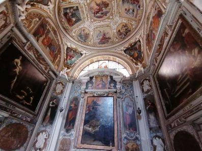 Capilla de Santa Giacinta Marescotti en San Lorenzo in Lucida en Roma. La capilla alberga dos lienzos de Simon Vouet. Foto: @cipripedia.