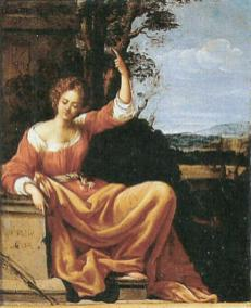 Viginia da Vezzo (atrib.) Autorretrato o Musa, ca. 1630. Col. priv. foto: wikipedia