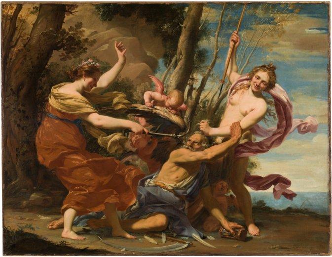 Simon Vouet. El Tiempo vencido por la Esperanza y la Belleza. 1627. Museo del Prado. Madrid.