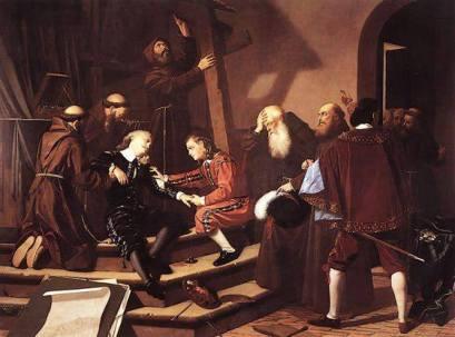 José Marcelo Contreras: La caída de Murillo, 1682. Cádiz, Museo de Bellas Artes.