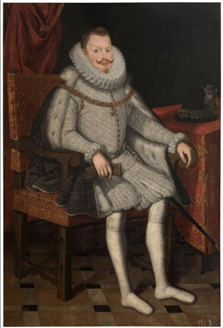 Bartolomé González: Felipe III, rey de España, sedente, ca. 1615. Óleo sobre lienzo. Madrid, Museo Nacional del Prado.