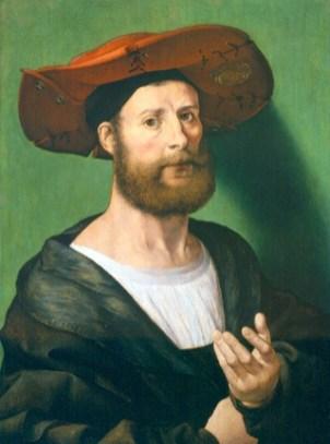 Jan Gossaert, Mabuse. Autorretrato. Courrier Museum of Art. Foto: wikipedia.