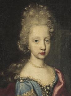 Fig. 7. Retrato del rosotro de la archiduquesa Marñia Ana de Austria en el cuadro del Museo del Prado.