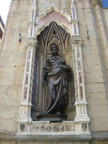 Ghiberti, San Juan Bautista. Florencia, Orsanmichele. Foto: Wikimedia Commons.