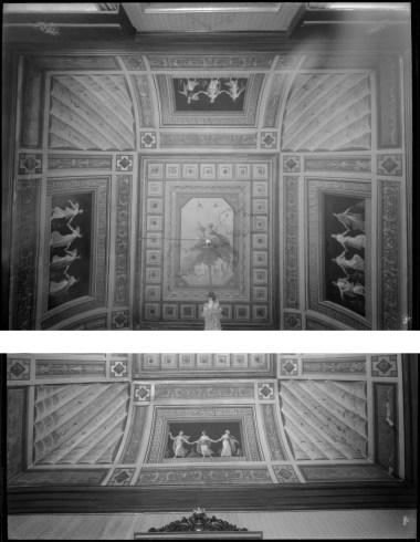 V. Moreno, Bóveda del salón de la prensa del antiguo Ministerio de Marina, h. 1929, IPCE, Archivo Moreno, inv. 03958_C y 03938_C. Fuente: ipce.culturaydeporte.gob.es