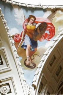 Recreación del artista ruso Boris Lugovskoy de la figura del arcángel SAn Miguel. Fotografía: Viajar con el Arte.