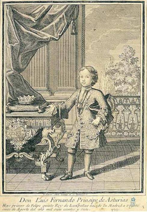 Retrato de Luis I como príncipe de Asturias, ca. 1717. Madrid, Biblioteca Nacional de España, inv. IH/5119/2.