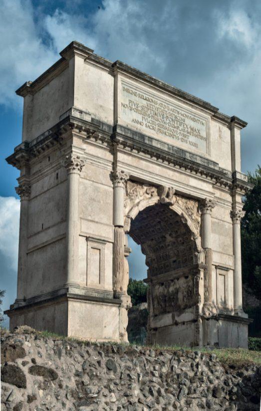 Arco de Tito en Roma. Foto: Parco Archeologico del Colosseo.