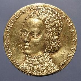 Leon Leoni. Medalla de Carlos V y la Emperatriz, reverso. Museo Arqueológico Nacional. Madrid. Foto: CERES.