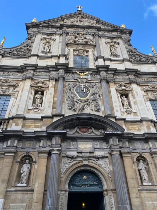 Vista actual de la fachada de los Jesuitas de Amberes. Foto: InvestigArt.