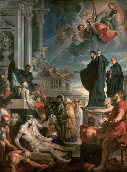 Peter Paul Rubens, Los milagros de San Francisco Javier, 1617-1618. Óleo sobre lienzo, 535 x 395 cm. Viena, Kunsthistorisches Museum: www.khm.at/de/object/c7af0926b2/