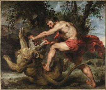 Peter Paul Rubens, Sansón y el león, ca. 1615-1617. Colección particular.