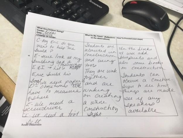 teacher's reflections