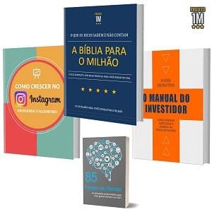 três livros do Projeto Milhão