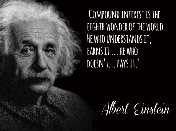Compound interest Einstein quote