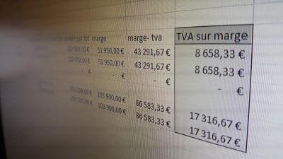 Calcul TVA sur marge marchand de biens