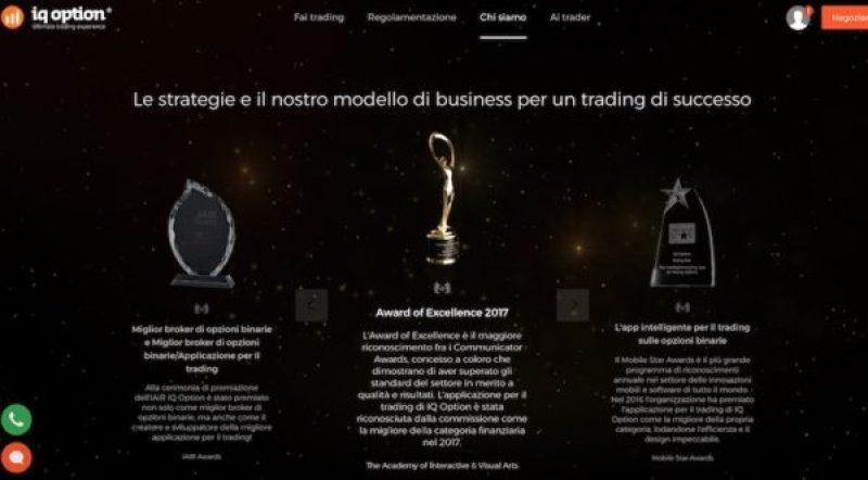 IQ Option Riconoscimenti Premi