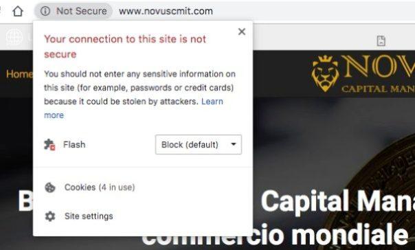 NovusCM Non Sicuro