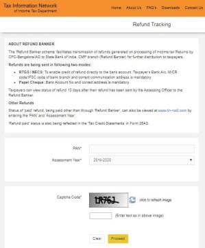 Tax Refund Using TIN-NSDL